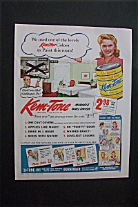 1944 Kem Tone Paint with Woman Showing Room (Image1)