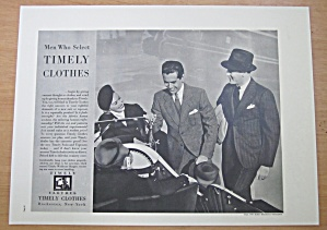 1937 Timely Clothes With Men Talking By A Car