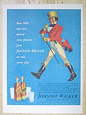 1937 Johnnie Walker Whiskey With Johnnie Walker