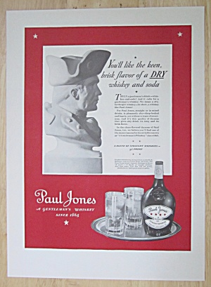 1937 Paul Jones Whiskey with A Bust of A Soldier (Image1)