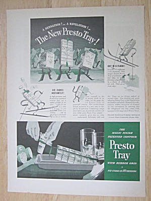 1937 Presto Tray With Ice Being Pulled From Tray