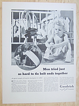 1937 Goodrich Rubber With Baby Tying Their Shoe