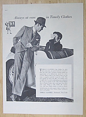 1937 Timely Clothes With A Man Talking To A Woman