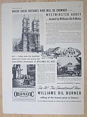 1937 Williams Oil O Matic With Westminster Abbey