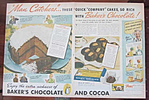 1937 Baker's Chocolate with Chocolate Frosted Cookies (Image1)
