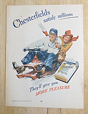 1938 Chesterfield Cigarettes with Man & Woman in Snow (Image1)