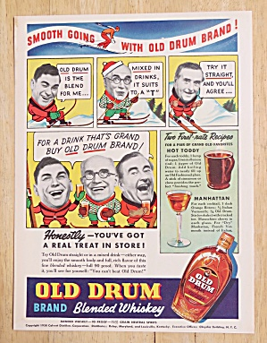 1938 Old Drum Whiskey with Hot Toddy & Manhattan (Image1)