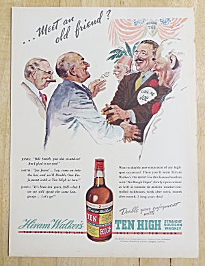 1938 Ten High Whiskey With Meeting An Old Friend