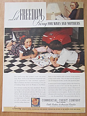 1938 Commercial Credit Company W/ Children Playing Game