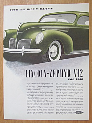 1938 Lincoln Zephyr V-12 With 1938 Zephyr