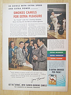 1940 Camel Cigarettes With Bowling Champ Joe Norris