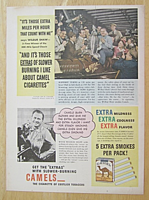 1940 Camel Cigarettes With Wilbur Shaw