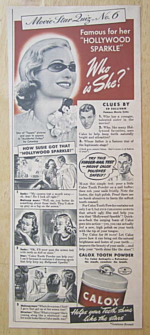 1940 Calox Tooth Powder With Constance Bennett