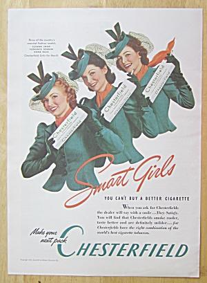 1940 Chesterfield Cigarettes w/ Shaw, Dornin & Dale  (Image1)