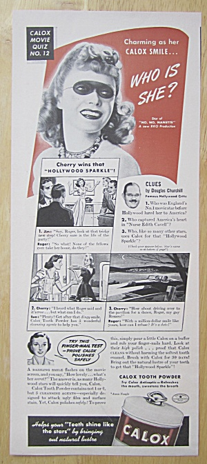 1940 Calox Tooth Powder With Anna Neagle