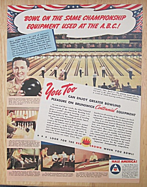 1942 Brunswick Centennial Equipment With Ned Day