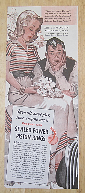 1942 Sealed Power Piston Rings W/disappointed Couple