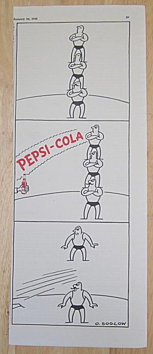 1942 Pepsi Cola (Pepsi) w/ Men Balancing on Each Other  (Image1)