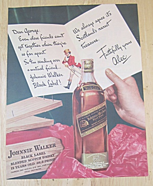 1942 Johnnie Walker Black Label Whiskey W/johnnie