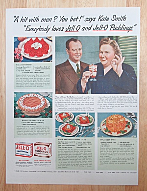 1942 Jell-o & Jell-o Pudding With Kate Smith