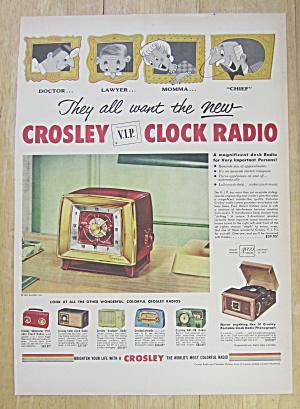 1953 Crosley Radio with Crosley V.I.P. Clock Radio (Image1)