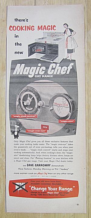 1953 Magic Chef Gas Range with Woman & Range  (Image1)