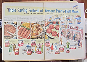 1953 Armour Meats With Armour Pantry Shelf Meals
