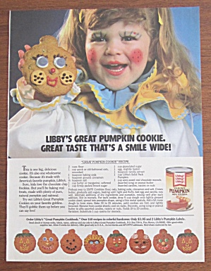 1986 Libby Solid Pumpkin with Girl Holding Cookie (Image1)