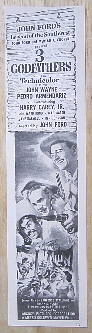 1945 3 Godfathers with John Wayne & Harry Carey Jr  (Image1)