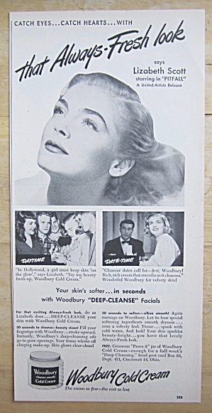 1948 Woodbury Cold Cream with Lizabeth Scott  (Image1)