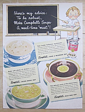 1948 Campbell's Soups With Campbell's Kid Teacher