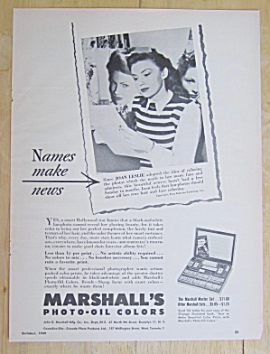 1949 Marshall's Photo-oil Colors With Joan Leslie