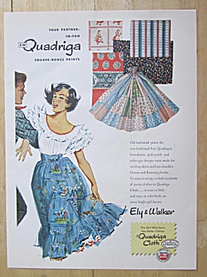 1951 Quadriga Square Dance Prints With Woman Dancing