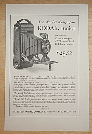 1921 Kodak Junior Camera W/number 2c Autographic Camera