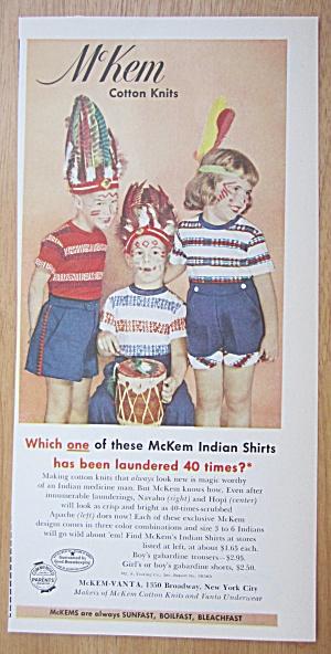 1952 McKem Cotton Knits w/Children Dressed Like Indians (Image1)