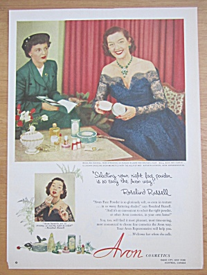 1952 Avon Cosmetics With Rosalind Russell