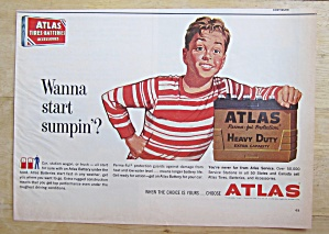 1962 Atlas Battery With Boy & Battery
