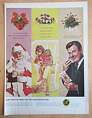1964 Florist Telegraph Delivery With Santa & A. Godfrey
