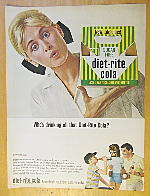 1965 Diet Rite Cola with Woman Holding Empty Carton (Image1)