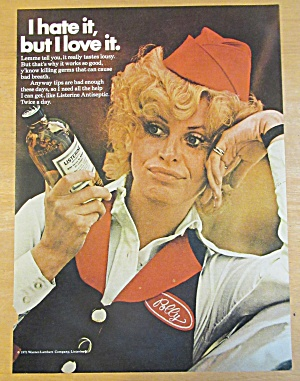 1971 Listerine Antiseptic With Polly The Waitress