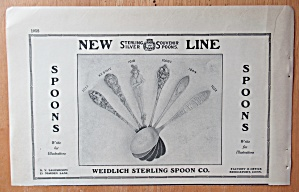 1913 Weidlich Sterling Spoon Co with Souvenir Spoons (Image1)