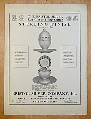 1913 Bristol Silver Company with Egg Cup & Egg Cutter (Image1)