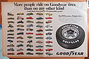 1970 Goodyear Tires With Variety Of Different Cars