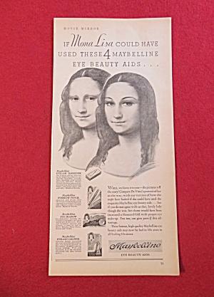 1933 Maybelline Eye Beauty Aids with Mona Lisa  (Image1)