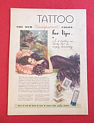 1933 Tattoo Transparent Color For Lips with Woman (Image1)