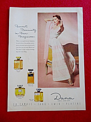 1951 Dana Fragrances with Lovely Woman  (Image1)