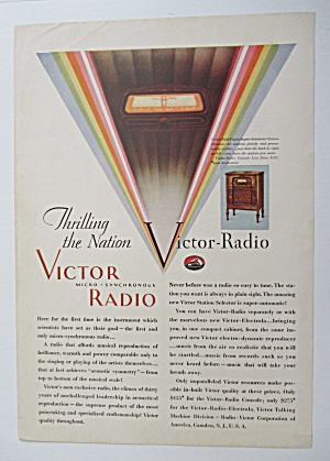 1929 Victor Radio with Micro Synchronous Radio  (Image1)