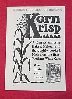 1902 Korn Krisp Cereal with Corn Stalk & Box Of Cereal (Image1)