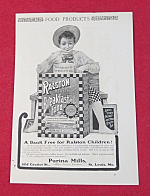 1902 Ralston Health Breakfast Food with Boy Eating  (Image1)