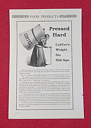 1902 Postum Coffee with Lady With Coffee On Her Back (Image1)